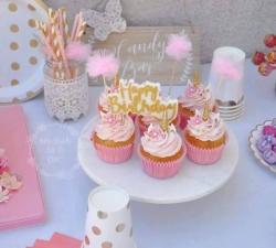 Sweet table thème licorne