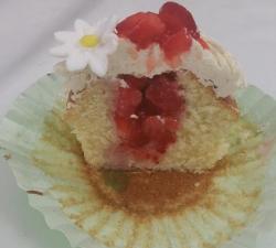 Cupcake fraisier