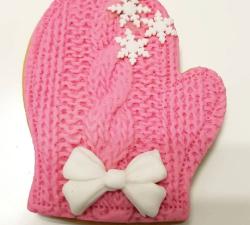 biscuit sablé gant de noël rose_1