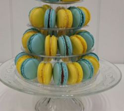 macaron bleu jaune anniversaire_1