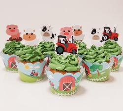 cupcake à thème animaux de la ferme_1