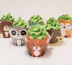 cupcake à thème animaux de la foret _1