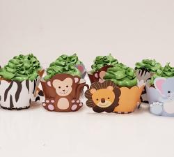 cupcake à thème animaux de la jungle_1