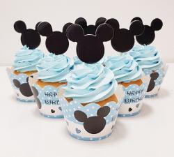 cupcake à thème bébé mikey bleu_1