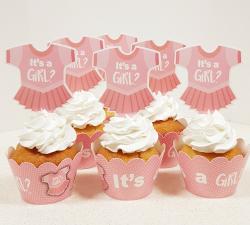cupcake à thème body fille babyshower_1