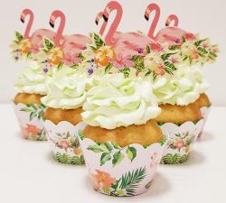 cupcake à thème flament rose_1