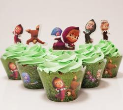 cupcake à thème Masha et Michka_1