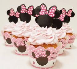 cupcake à thème  minnie rose _1