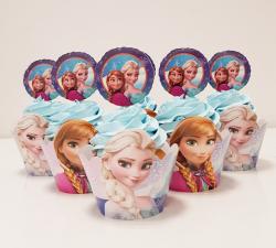 cupcake à thème reine des neiges_1