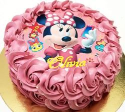 gâteau decoré avec impression alimentaire mini personnalisé_1