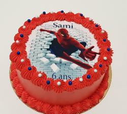 gâteau décoré impression alimentaire personnalisé Spiderman_1