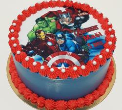 gâteau décoré impression alimentaire personnalisé avengers_1