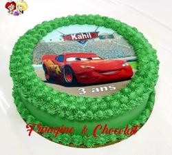gâteau décoré impression alimentaire personnalisé cars_1