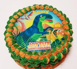 gâteau décoré impression alimentaire personnalisé dinausore_1