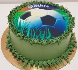 gâteau décoré impression alimentaire personnalisé Foot_1