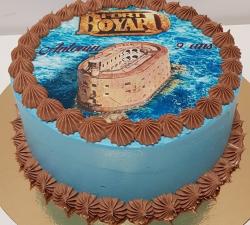 gâteau décoré impression alimentaire personnalisé Fort Boyard_1