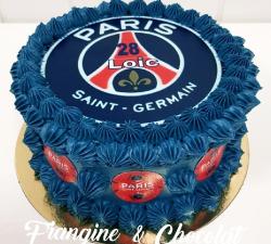 gâteau décoré impression alimentaire personnalisé PSG_1
