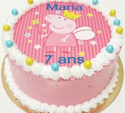 gâteau décoré impression alimentaire personnalisé Peppa pig_1