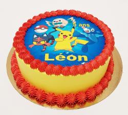 gâteau décoré impression alimentaire personnalisé Pokemon_1