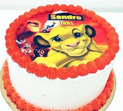 gâteau décoré impression alimentaire personnalisé roi lion_1