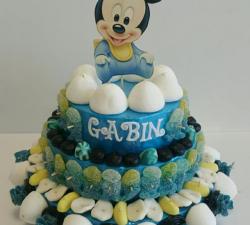 gâteau bonbons bébé mikey personnamisé_1