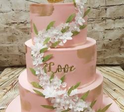 gâteau mariage rose poudré_1